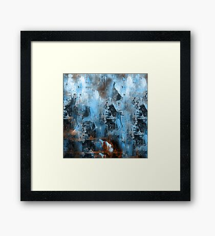 abstract blue 9,16 Framed Print