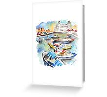 Boats In Siracusa Greeting Card