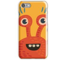 Funny Orange Creature iPhone Case/Skin