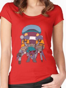 ROBOT RAMPAGE Women's Fitted Scoop T-Shirt