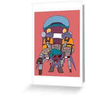 ROBOT RAMPAGE Greeting Card