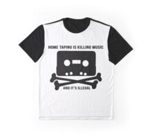 Music Piracy 1981 Advert Graphic T-Shirt