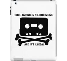 Music Piracy 1981 Advert iPad Case/Skin