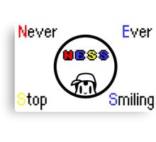 Never Ever Stop Smiling Canvas Print