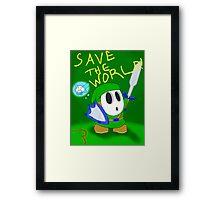 Shy Guy Link Framed Print