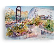 A friends garden Canvas Print
