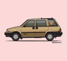 Nissan Stanza / Prairie 4wd Wagon Gold One Piece - Long Sleeve