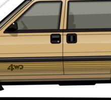 Nissan Stanza / Prairie 4wd Wagon Gold Sticker