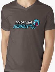 My driving scares me too (3) Mens V-Neck T-Shirt
