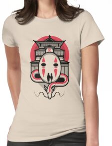 Spirited Haku and Chihiro Womens Fitted T-Shirt
