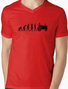 Evolution Tractor Mens V-Neck T-Shirt