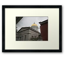 Vermont State House, rear view Framed Print