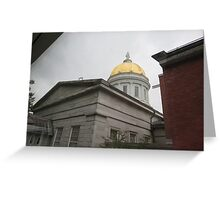 Vermont State House, rear view Greeting Card