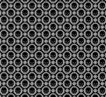 Os et têtes de mort pixelisés - Gris Sticker