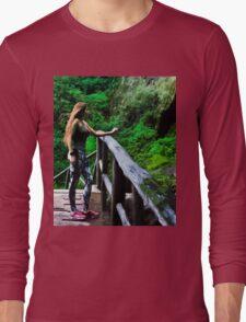 Checking Out The Chorros De Giron Long Sleeve T-Shirt