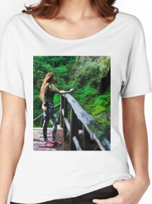 Checking Out The Chorros De Giron Women's Relaxed Fit T-Shirt