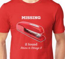 MiOffice Space Swingline Red Stapler Milton Storage B Unisex T-Shirt