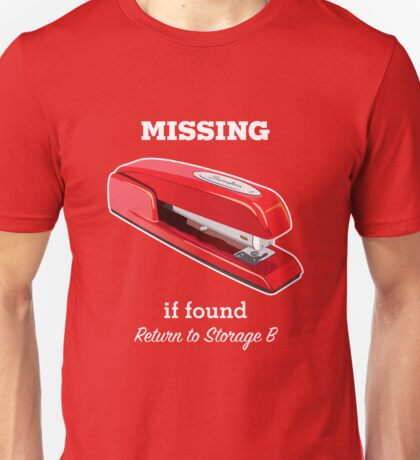 MiOffice Space Swingline Red Stapler Milton Storage B Unisex T-Shirt