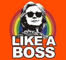 Hillary Clinton Like a Boss Rainbow Kids Tee