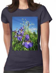 Summer Irises Womens Fitted T-Shirt