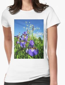 Summer Irises Womens Fitted T-Shirt