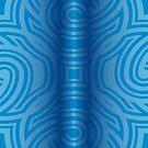 Blue Tube on Blue Pattern by Kinnally