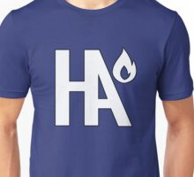 HA Logo White w/ Black Outline Unisex T-Shirt