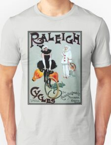 RALEIGH CYCLES; Vintage Bicycle Advertising Print Unisex T-Shirt