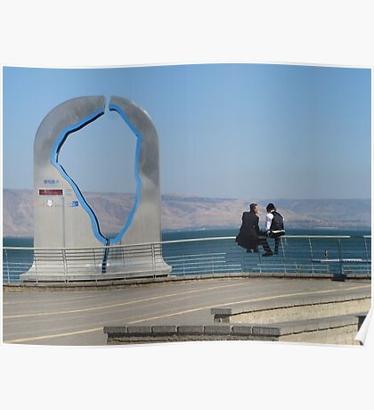Two Hasidim by the Kinneret Poster