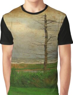 Desolate Beach Landscape | Stormy Seascape | PEI Canada Graphic T-Shirt