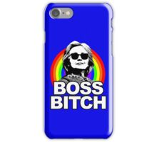Hillary Clinton Boss Bitch Rainbow iPhone Case/Skin