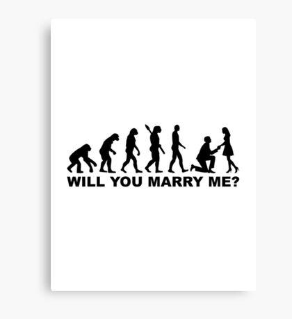 Evolution wedding marriage proposal Canvas Print