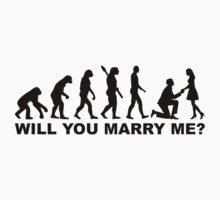Evolution wedding marriage proposal One Piece - Long Sleeve