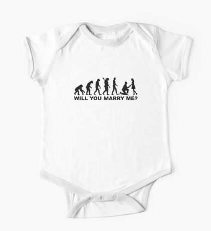 Evolution wedding marriage proposal One Piece - Short Sleeve