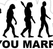 Evolution wedding marriage proposal Sticker