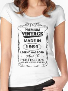 Premium Vintage 1954 Aged To Perfection Women's Fitted Scoop T-Shirt