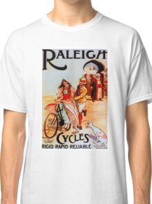 RALEIGH CYCLES; Vintage Bicycle Advertising Print Classic T-Shirt