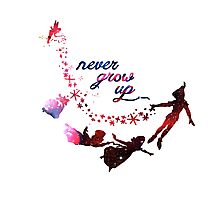Never Grow Up Nebula  Photographic Print