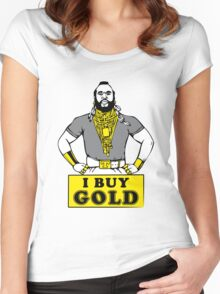 I Buy Gold Women's Fitted Scoop T-Shirt