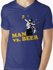 Man vs. Beer Mens V-Neck T-Shirt
