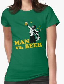 Man vs. Beer Womens Fitted T-Shirt