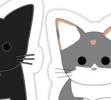 Theo and Clio - White Sticker