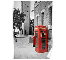 Red Telephone & Post Box Poster