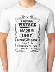 Premium Vintage 1957 Aged To Perfection Unisex T-Shirt