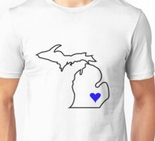 Michigan Love - Blue  Unisex T-Shirt