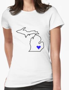 Michigan Love - Blue  Womens Fitted T-Shirt