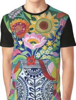 Late Summer Blooms Graphic T-Shirt