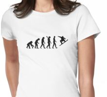 Evolution Snowboarding Snowboard Womens Fitted T-Shirt