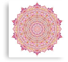 Super Intricate Mandala with curly elements Canvas Print