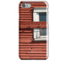 Red Barn White Window iPhone Case/Skin